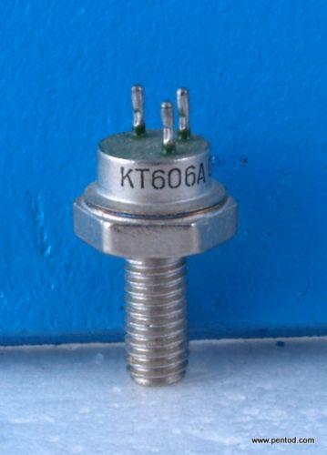 Транзистор КТ606А NPN 0.4A 65V 350MHz  2.5W СССР