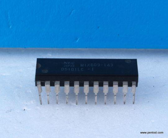 Интегрална схема  D5101LC-1 RAM памет 1K  256X4   Nec