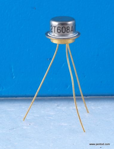 Транзистор 2Т608А NPN 0.4A 60V 200MHz 0.5W  Gold pins