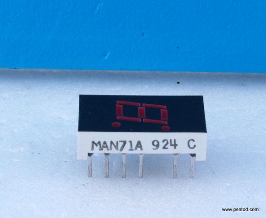 MAN71A SEVEN SEGMENT DISPLAYS