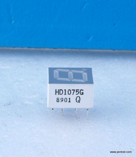HD1075G 1-Digit LED 7 Segment IC-Compatible Green