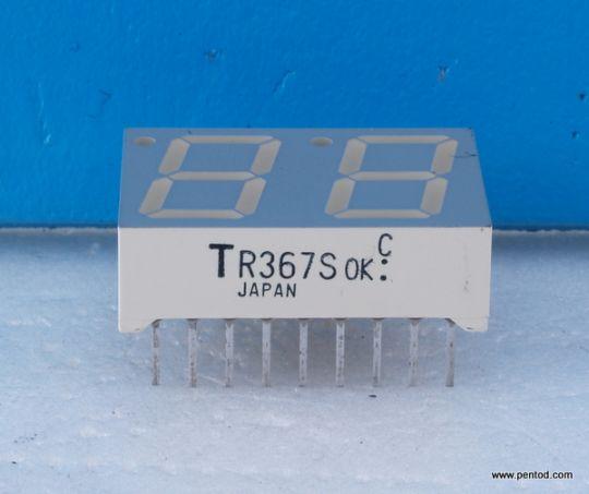 TR367S Dual digit numeric display