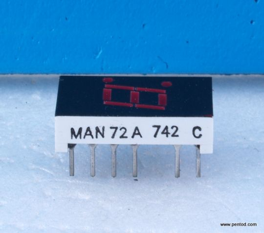 MAN72A Seven Segment Displays