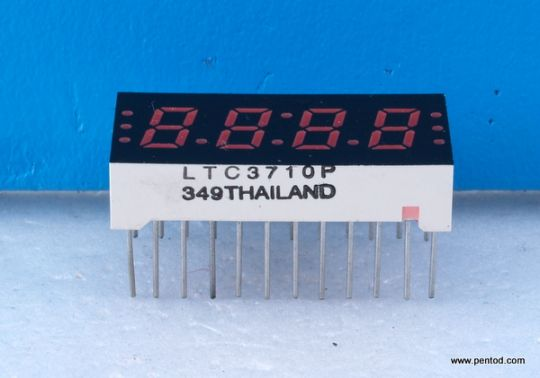 LTC3710P FOUR LED CLOCK FREQUENCY DISPLAYS