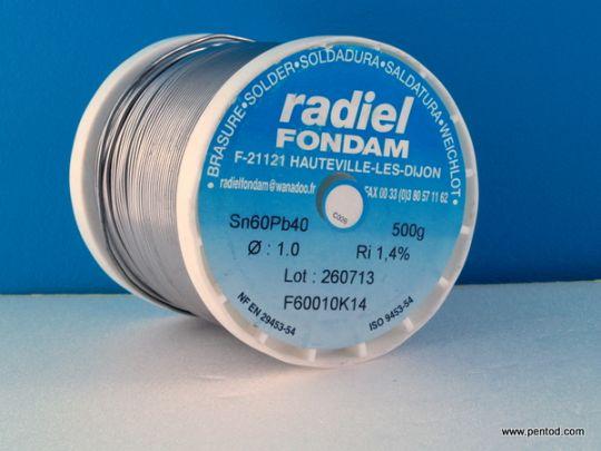 ТИНОЛ ОЛОВЕН 1.0 mm RADIEL FONDAM  Sn60Pb40 0.5кг.
