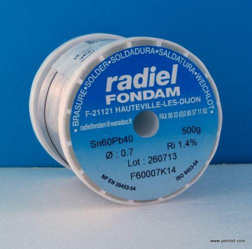 ТИНОЛ ОЛОВЕН 0.7mm  RADIEL FONDAM  Sn60Pb40 0.5кг.