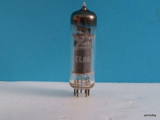 Радиолампа  пентод EL86 Zaerix