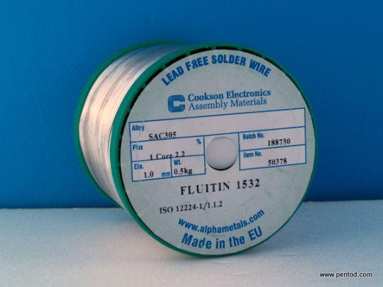 Тинол безоловен със 3% сребро 1.0mm  SAC305 0,5кг     hi-fi аудио