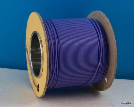 Тефлонов шлаух външен диаметър 1,20 mm  вътрешен диаметър  0,6mm  ВИОЛЕТОВ