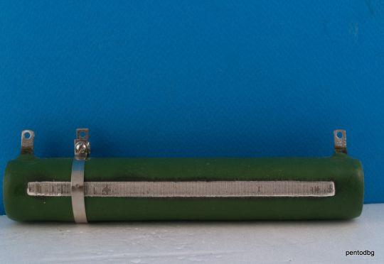Резистор регулируем  820Ω 10% 100W ПЭВР-100  жичен влагоустойчив СССР
