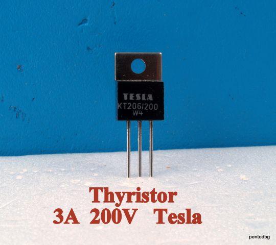 Тиристор   КТ206/200   3A 200V   Igt -10mA   Tesla