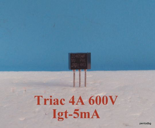 Симистор / триак / Z0405MF  4A  600V  IGT -5mA   ST