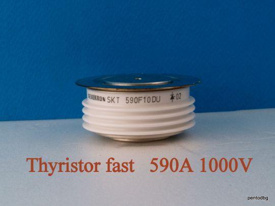 Тиристор бърз  SKT590F10DU 590A 1000V tq-25μs  Semikron