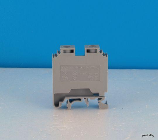 Редова клема винтова 25 mm2  600V  115A   SCRW 25U