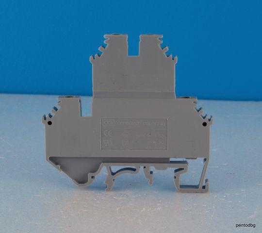 Редова клема двуредова 4 mm2 DBLOFF 4U