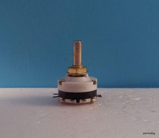 Галетен превключвател ПГС210Б  1 секция 11 позиции,  посребрени