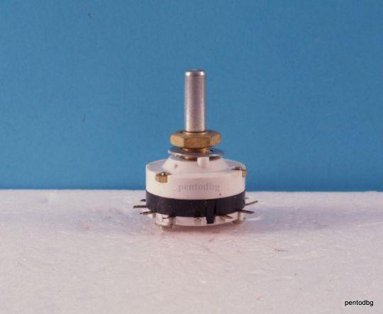 Галетен превключвател ПГС216Б  2 секция  5 позиции,  посребрени