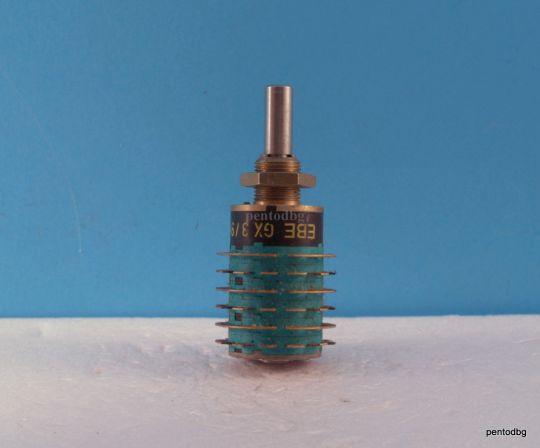 Галетен превключвател EBE GX 3/9X4 UT 12AG  9 секция 4 позиции