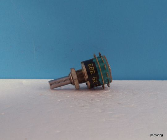 Галетен превключвател  EBE GX 1/1X6 UT 12AG 1 секция 6 позиции